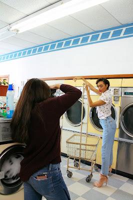 modeling in laundromat