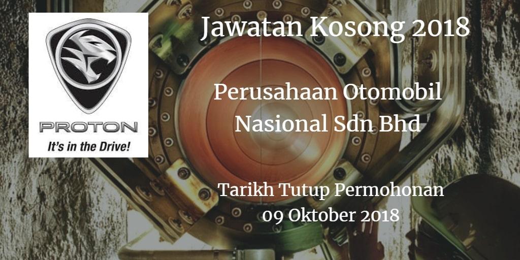 Jawatan Kosong PROTON 09 Oktober 2018