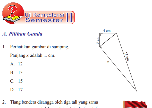 Jawaban Pg Uji Kompetensi Semester 2 Halaman 311 Matematika Kelas 8 Belajar 76 Belajar Wirausaha