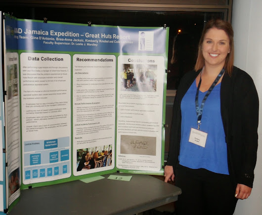 Kimberly Knobel at the 2015 Undergraduate Research Conference