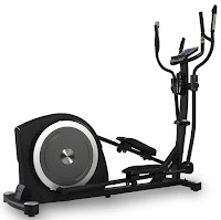 "JTX Zenith Elliptical Gym Cross Trainer, with 17 kg flywheel, 16 levels of electro-magnetic resistance, 21"" stride length, 150mm Q-factor, 19 programs, Bluetooth, iConsole app"