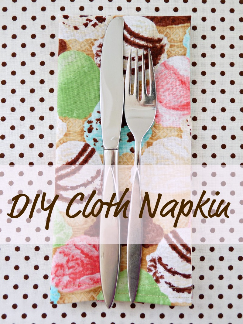 DIY cloth napkin