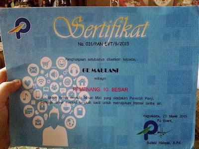 sertifikat mino
