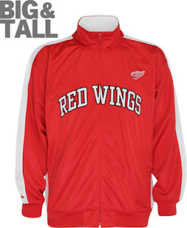 Big and Tall Detroit Red Wings Jacket
