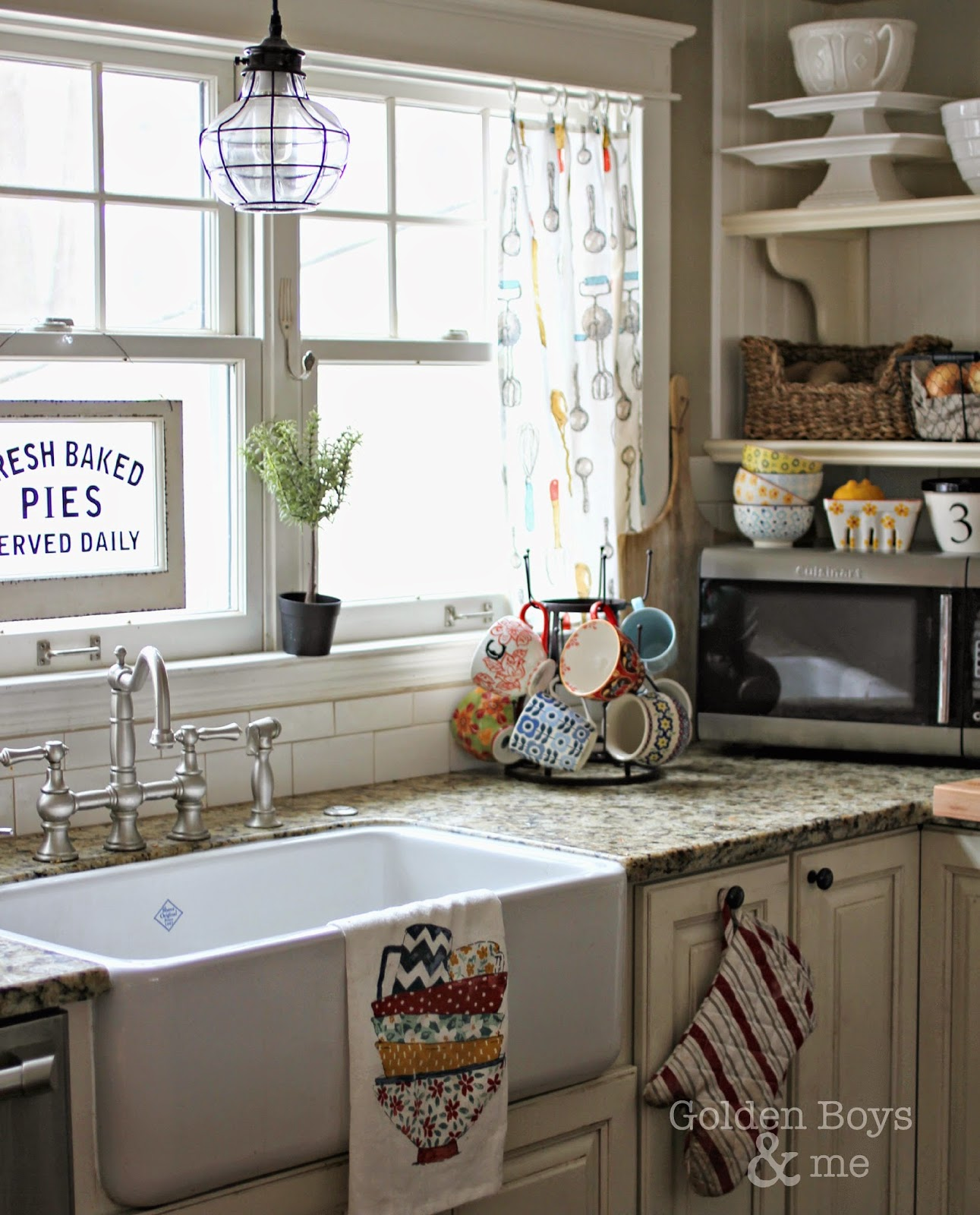 Kitchen Dish Towels Delta Faucet Parts List Golden Boys And Me Turned Curtains Easy Diy Made With Www Goldenboysandme Com