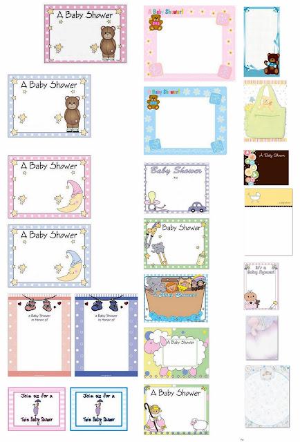 Tarjetas o Invitaciones para Baby Shower para Imprimir Gratis.