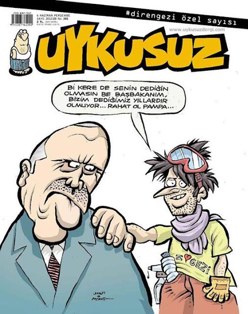 Uykusuz Dergisi | 6 Haziran 2013 Kapak Karikatürü