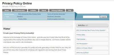 Cara Membuat Privacy Policy, Disclaimer Dan TOS
