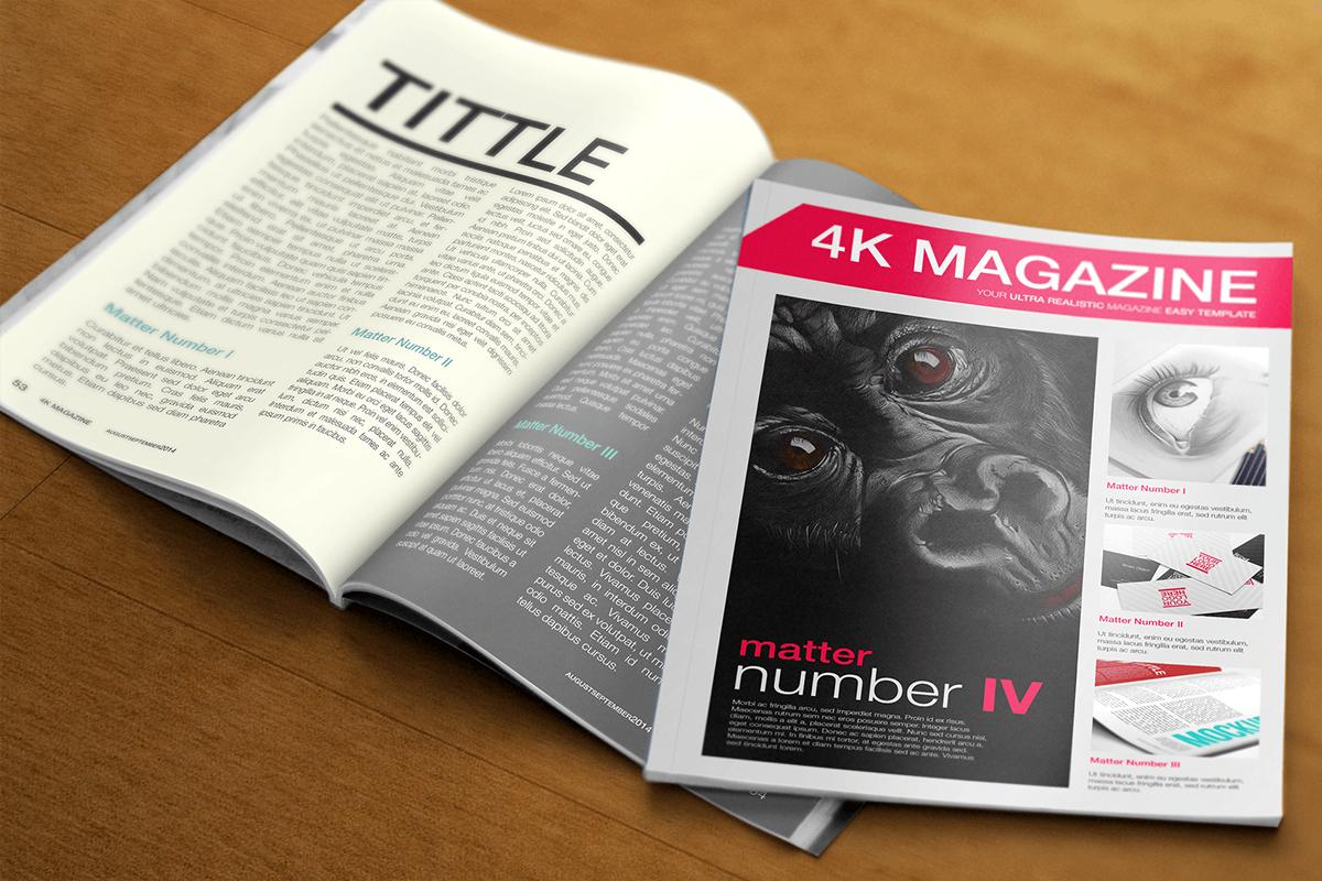 Mockup Magazine Template