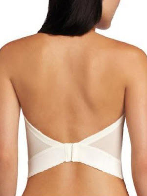 Low plunge backless bra