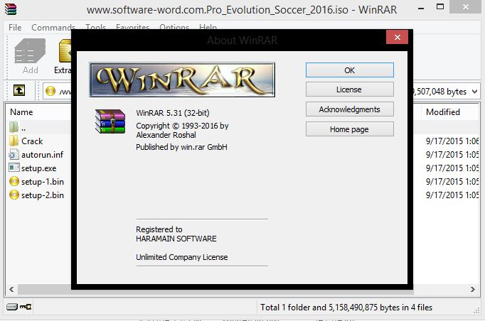 Download Winrar 5.31 Final 32 Bit dan 64 Bit Full Version With Keygen