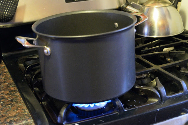 A large pot on the stove.