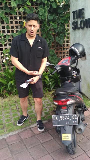 Sewa Motor di Bali Keenan Pearce