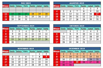 Kalender Pendidikan Baru Tahun Pelajaran 2019-2020