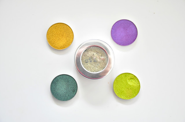 cienie foliowe makeup geek masquerade, fortune teller, limelight, epic, cień foliowy stila metallic laurel