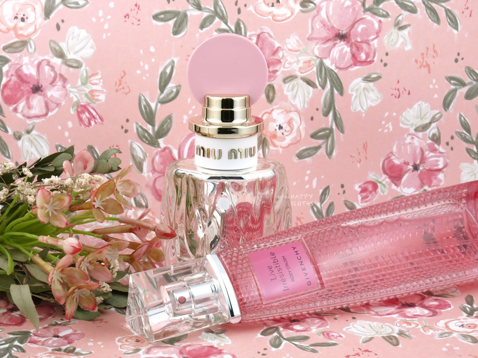 Fragrances for Valentine's Day 2019 | Miu Miu Fleur d'Argent Eau de Parfum Absolue & Givenchy Live Irrésistible Rosy Crush Eau de Parfum: Review