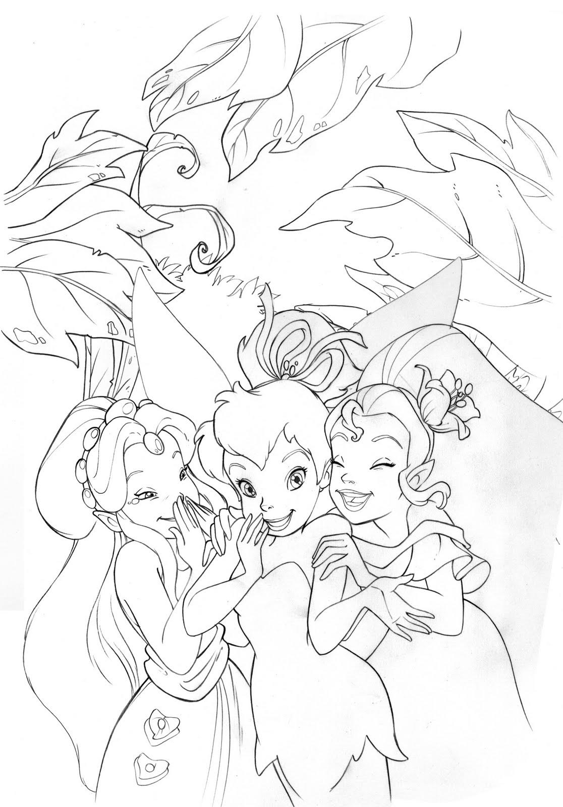 Kleurplaten Disney Fairies.Disney Fairies Kleurplaten Archidev