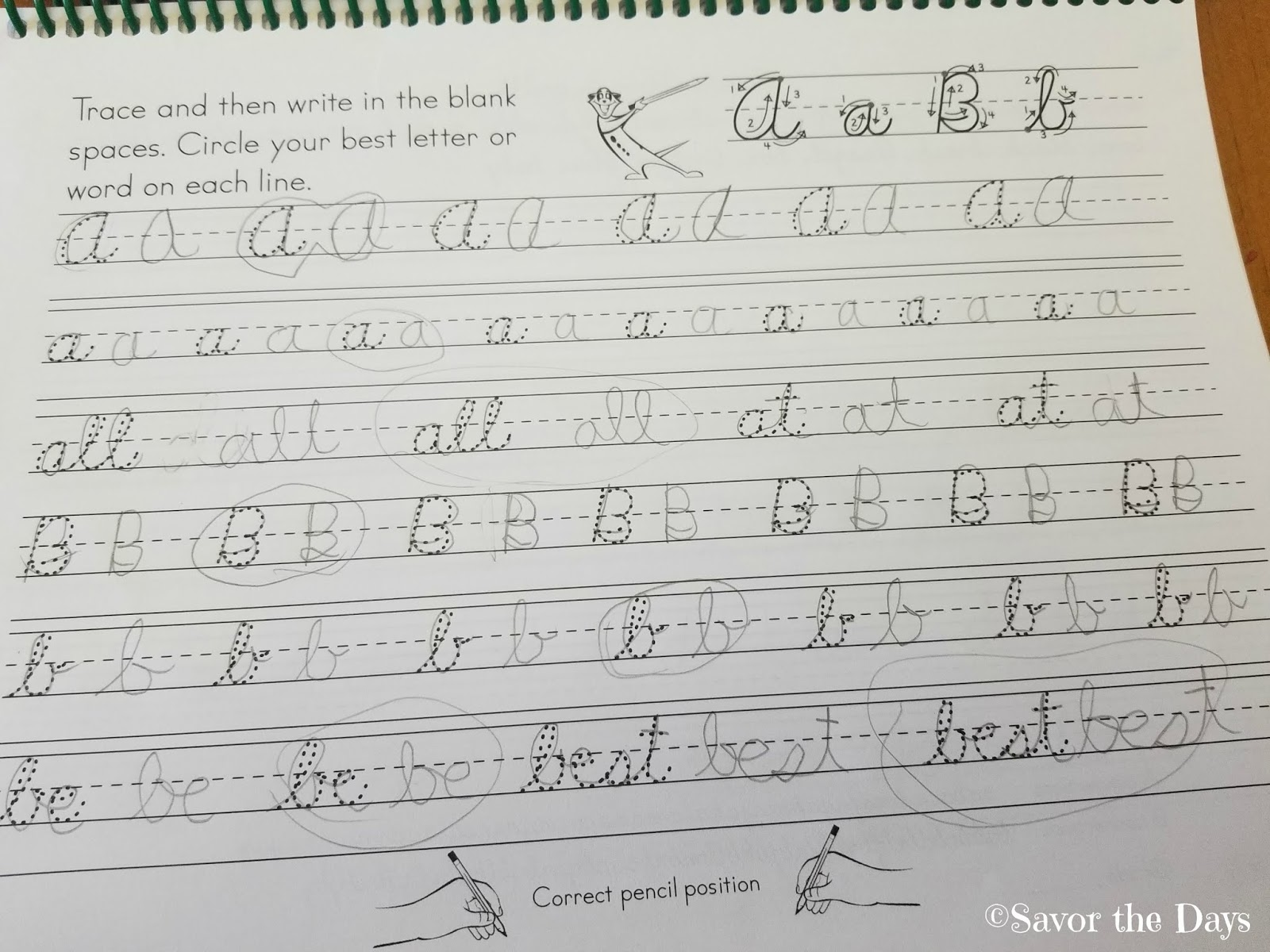 Savor The Days Learning Cursive With Memoria Press Review