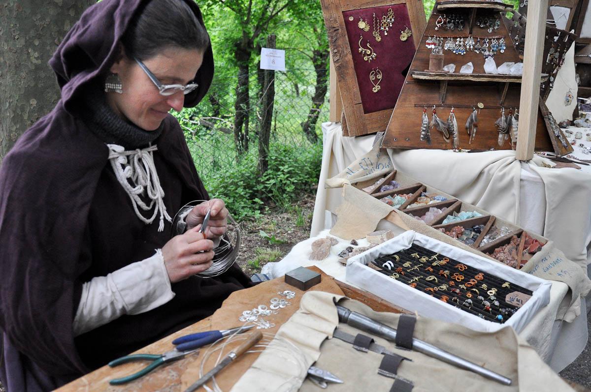 Jewellery making, Romeo and Juliet Festival - Faida, Montecchio Maggiore, Veneto, Italy