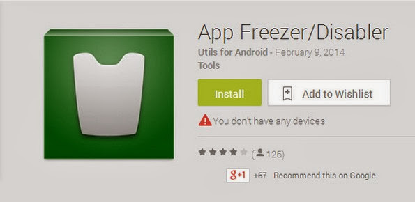 App Freezer/Disabler app for removing bloatware on Android