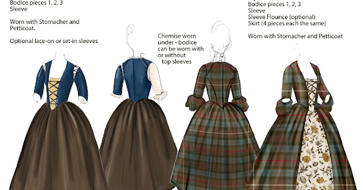 "American Duchess: Introducing the New Simplicity ""Outlander"" Sewing Patterns by American Duchess"