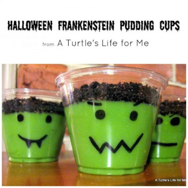Halloween Pudding Cups from A Turtle's Life for Me