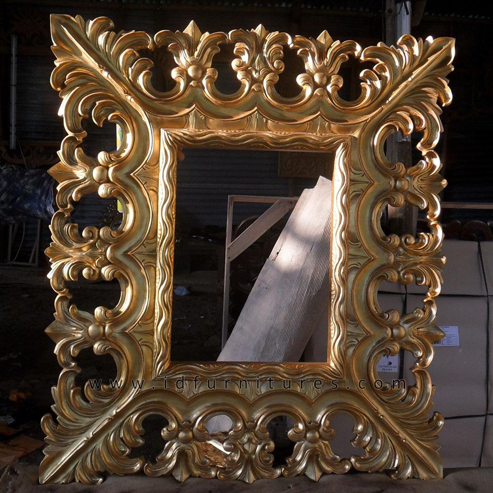 Hiasan Dinding Cermin Hias Monstera Gold Leaf   Desain ...