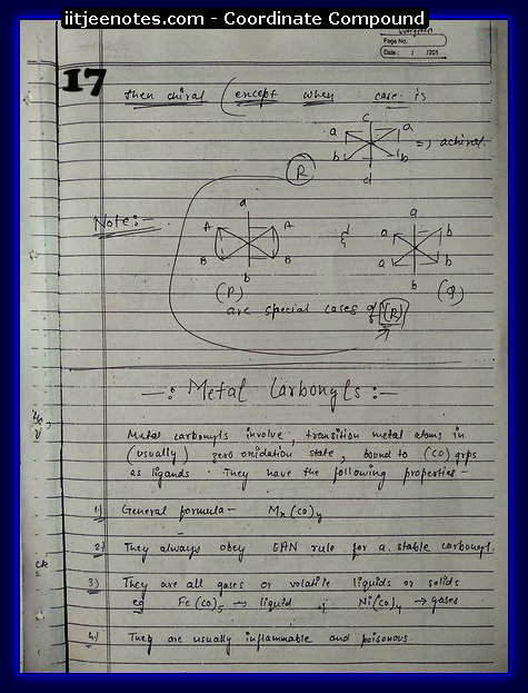 Co-Ordinate Compound Notes2