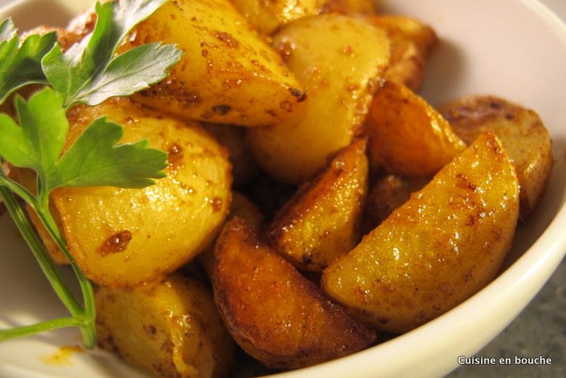 Pommes de terre au four aux pices le blog de cuisine en bouche - Recette saumon au four avec pomme de terre ...
