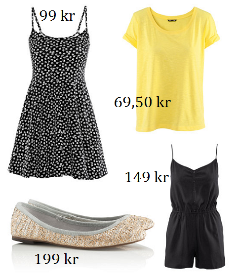 061a7a4e78f3 Klänningar och jumpsuits med bara ben. Den gula t-shirten till jeansshorts.  Och ballerinas eller sandaler på fötterna. Vill ha!