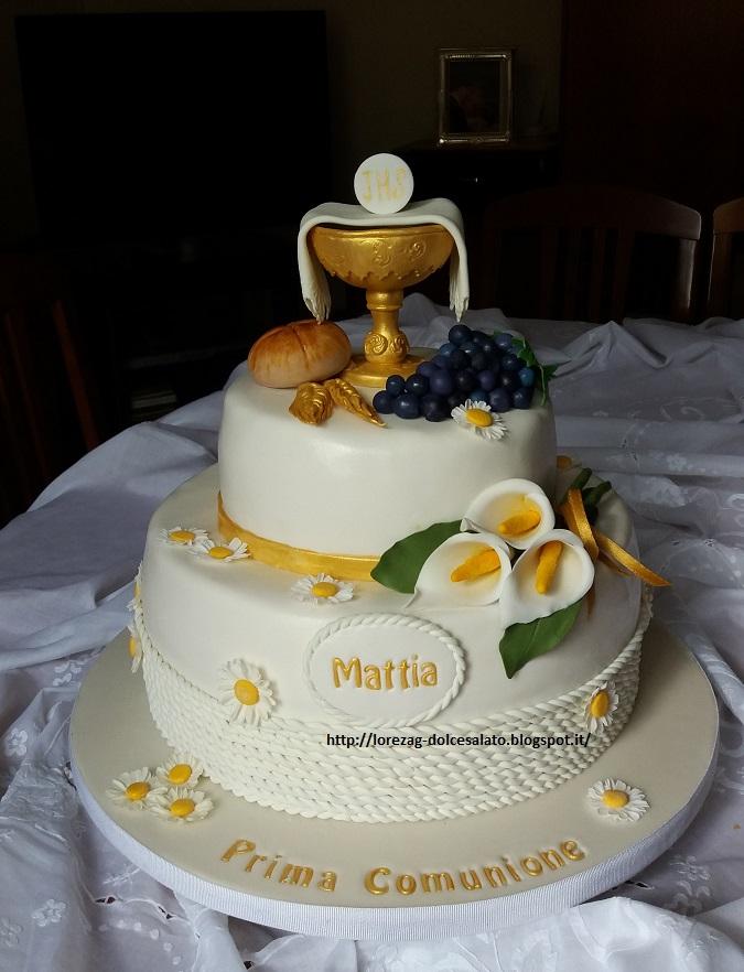 Torte di comunione in pasta di zucchero xh83 pineglen for Decorazione torte prima comunione