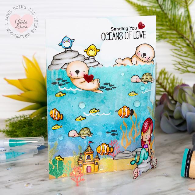 Oceans of Love DIY Bendy Card - 2017 MFT Superstar Card Contest Entry