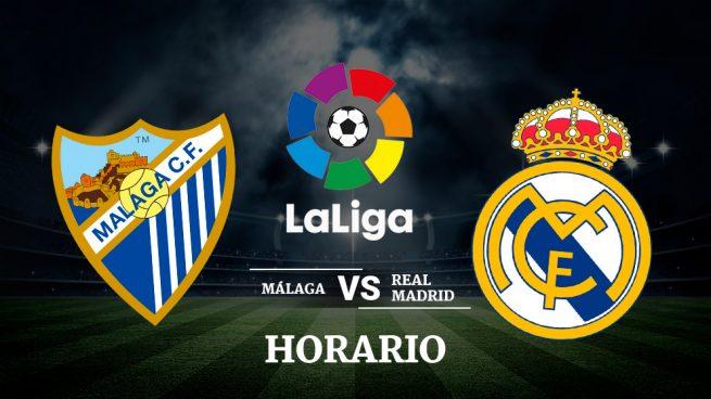 Horario y dónde ver: Málaga - Real Madrid
