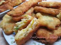 Τηγανίτες με τυρί και κολοκυθάκι! - by https://syntages-faghtwn.blogspot.gr