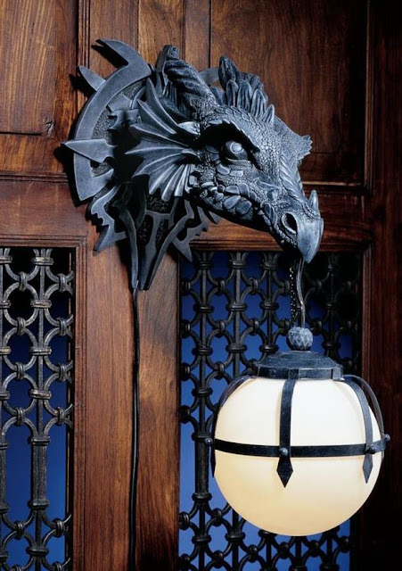 Dragon Sculptural Electric Wall Sconce