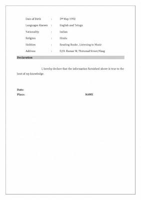 Resume Format for Teachers 3