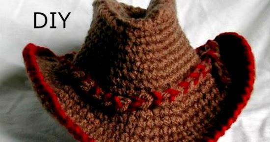 62b3dd0f33a20 Sombrero Vaquero Tejido a Crochet - DIY