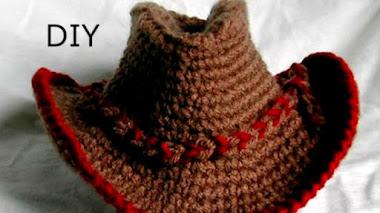 Sombrero Vaquero Tejido a Crochet - DIY