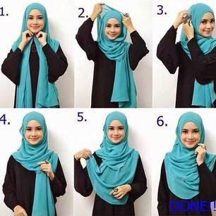 Tampil Stylish dengan Tutorial Hijab Pashmina Jersey