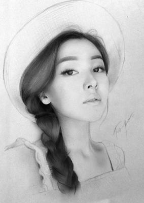 mujeres-con-sombreros-dibujos-a-lapiz