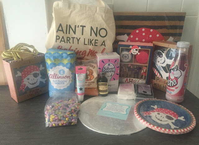Baking Mad Pirate Cake Kit contents
