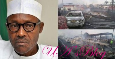 Buhari Reacts To Horrific Lagos Tanker Explosion That Claimed Many Lives