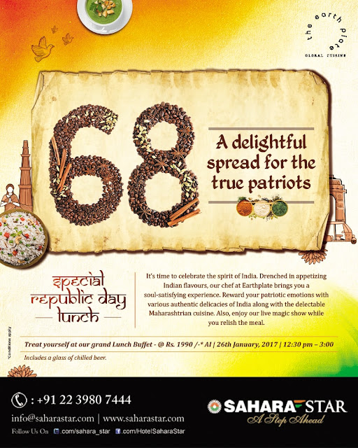 HOTEL SAHARA STAR TREATS YOU TO A SPECIAL REPUBLIC DAY BUFFET LUNCH