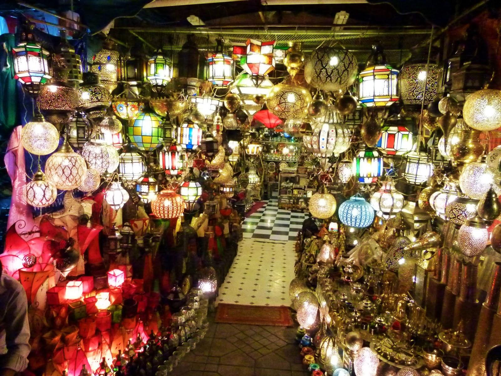 Weltreise von marrakesch nach ouzoud nach casablanca und for Lampen casablanca
