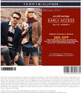 Tommy Hilfiger coupons february 2017