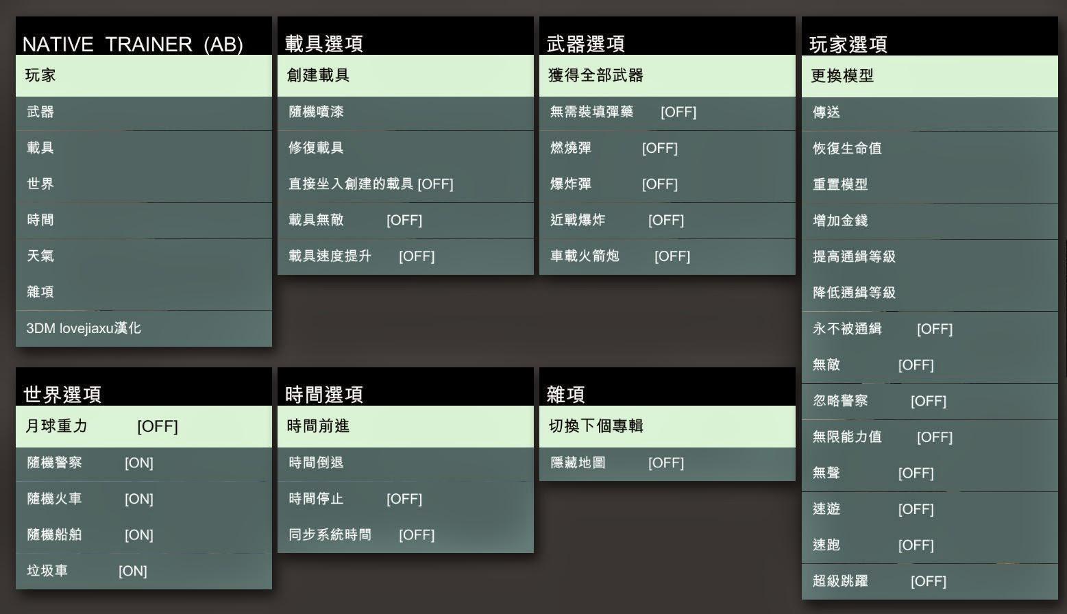 俠盜獵車手V》GTA5v1 0 350 2 MOD ScriptHook 內置修改器(線上版) - 人