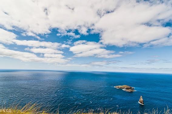 Foto de los islotes Motu Nui, Iti y Kao Kao en Rapa Nui