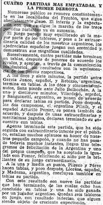 Más información en ABC sobre el Match Internacional de Ajedrez Argentina-España, 1946