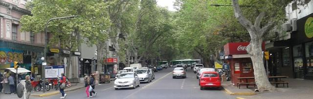 Avenida Las Heras em Mendoza