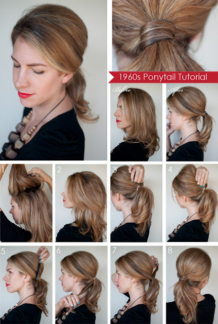Simple pony at the back of your hair